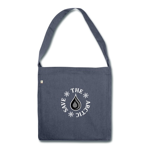 No Arctic Oil - Shoulder Bag made from recycled material