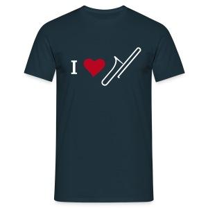 I love Trombones - Männer T-Shirt
