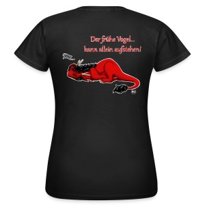 Drachi Dragon müde rot/red FrauenT-Shirt Backdruck - Frauen T-Shirt