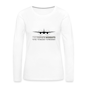 Women's Motto Long-sleeve Shirt - White - Women's Premium Longsleeve Shirt