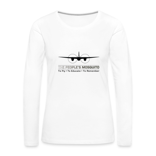 Women's Motto Long-sleeve Shirt - White - Women's Premium Longsleeve Shirt