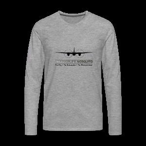 Men's Motto Long-sleeve Shirt - Grey - Men's Premium Longsleeve Shirt