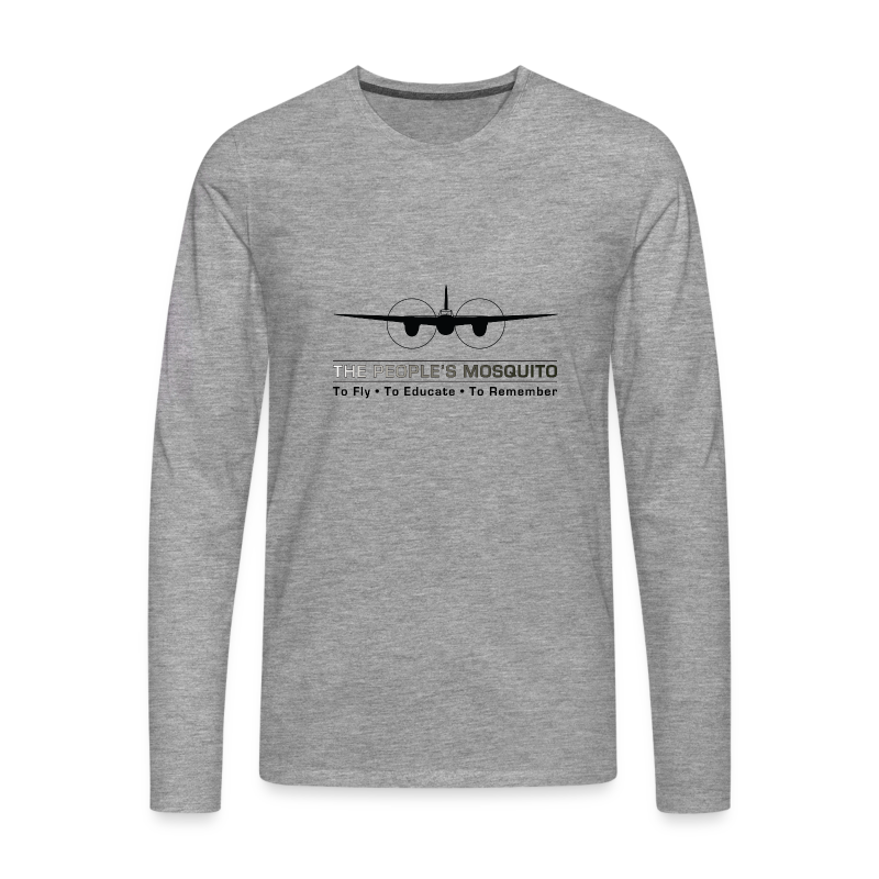 Men's Motto Long-sleeve Shirt - Grey - Men's Premium Longsleeve Shirt