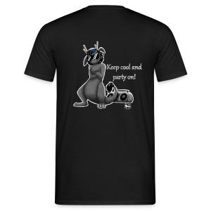 Keep cool- Drachi Dragon grau/grey MännerT-Shirt Backdruck - Männer T-Shirt