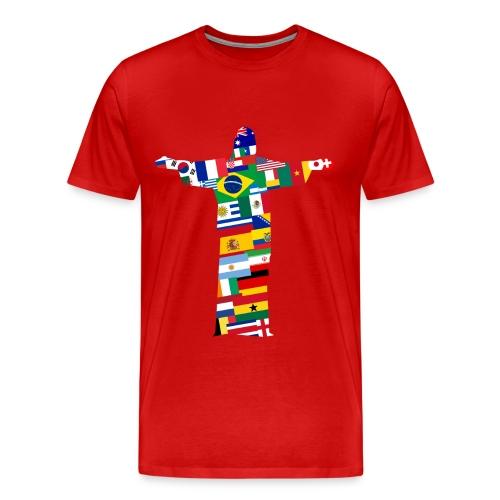 Redeemer in Flags - Maglietta Premium da uomo