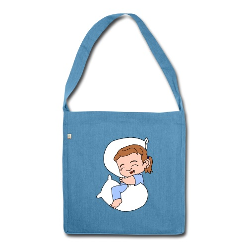 Sleeping Girl Recycling Bag - Shoulder Bag made from recycled material