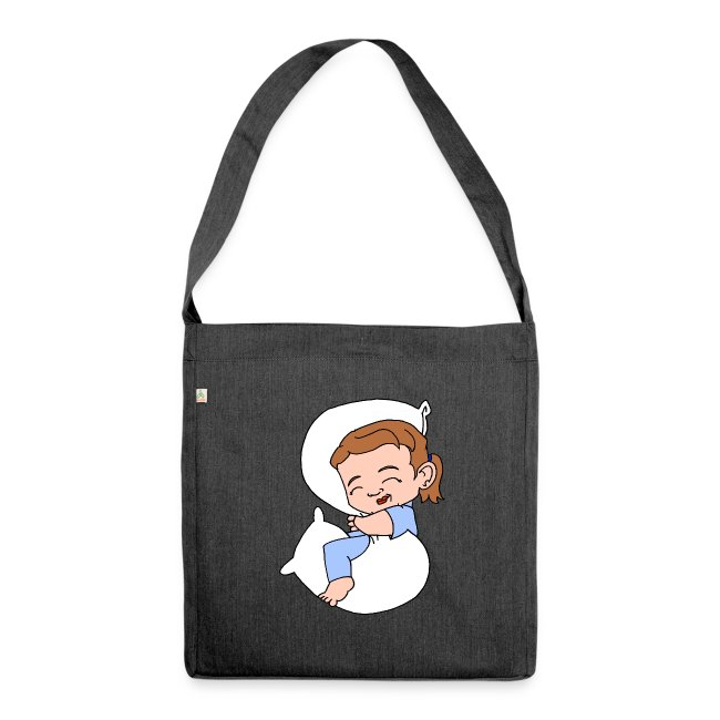 Sleeping Girl Recycling Bag