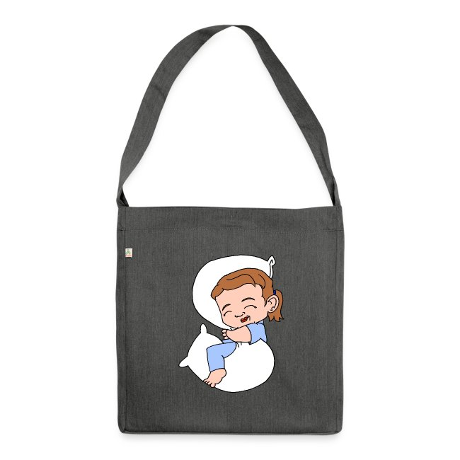 Sleeping Girl Recycling Bag