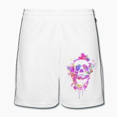 Cool & Trendy Watercolor Skull Trousers & Shorts