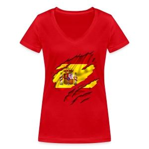 Spain Women - T-shirt bio col V Stanley & Stella Femme