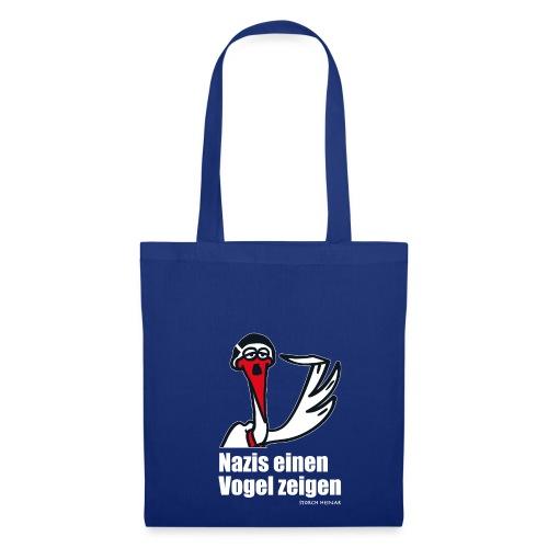Stoffbeutel - Nazis einen Vogel zeigen! Jetzt auch beim Einkaufen.