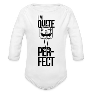 i am quite perfect, mädchen perfektionismus Pullover & Hoodies - Baby Bio-Langarm-Body