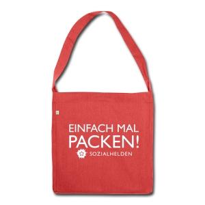 Recycling-Tasche Packen! - Schultertasche aus Recycling-Material
