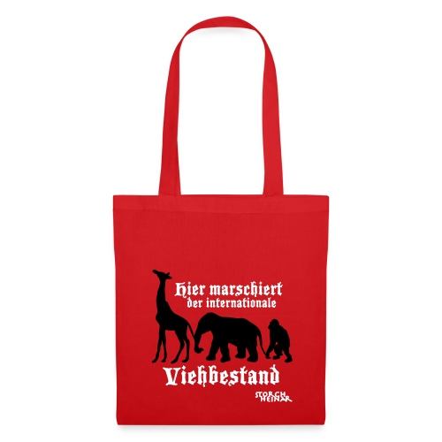 Stoffbeutel - Von wegen nationaler Widerstand: Hier marschiert der nationale Viehbestand! Mal so als Demo-Beutel...