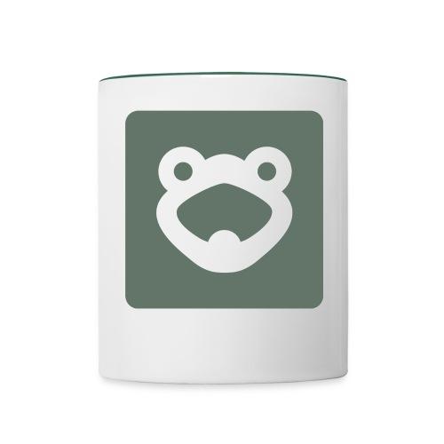 Becher, Frogwords-Logo - Tasse zweifarbig