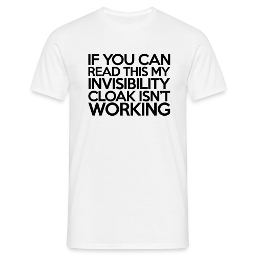 Cape d'invisibilité - T-shirt Homme