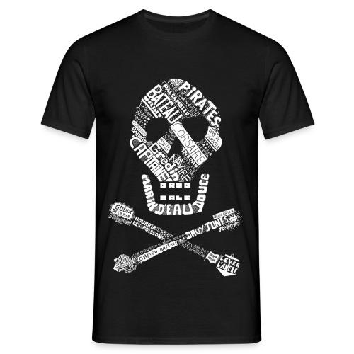 T-shirt Tête de mort Homme (noir) - T-shirt Homme