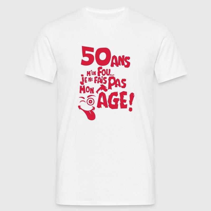 t shirt 50 ans fais pas mon age anniversaire spreadshirt. Black Bedroom Furniture Sets. Home Design Ideas