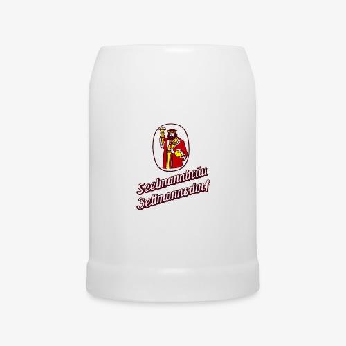 Bierkrug mit Retro-Logo - Bierkrug