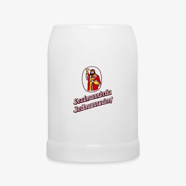 Bierkrug mit Retro-Logo