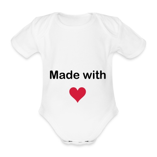Made with love - Økologisk kortermet baby-body