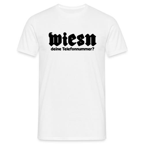 wie ist deine telefonnummer  - Männer T-Shirt
