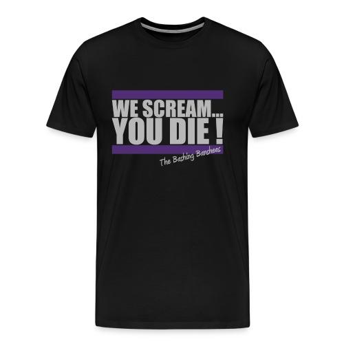 Tee-shirt We Scream... - Homme - Noir - T-shirt Premium Homme