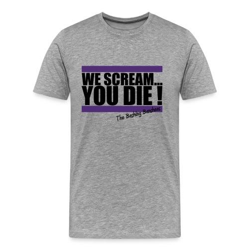 Tee-shirt We Scream... - Homme - Gris - T-shirt Premium Homme