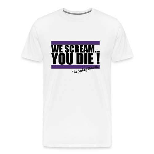 Tee-shirt We Scream... - Homme - Blanc - T-shirt Premium Homme