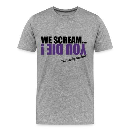 Tee-shirt We Scream... 02 - Homme - Gris - T-shirt Premium Homme