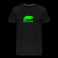 T-Shirts ~ Men's Premium T-Shirt ~ Men's Tee Green Logo