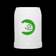 Mugs & Drinkware ~ Beer Mug ~ Beer Stein Green Badge