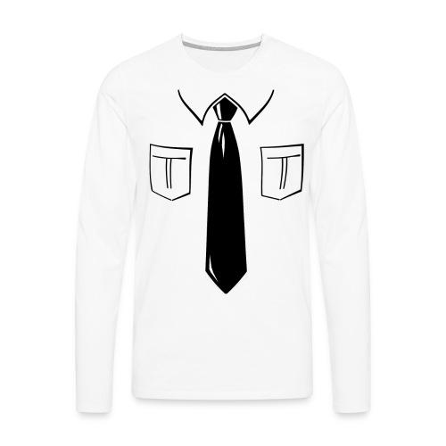 Camisa con corbata - Camiseta de manga larga premium hombre