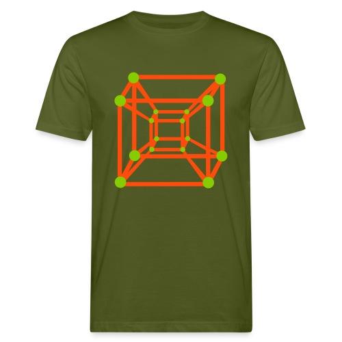 4D Cube - Männer Bio-T-Shirt