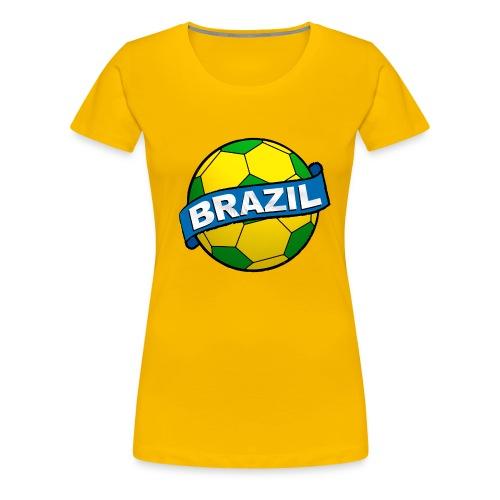 Brazil sport supporter - Women's Premium T-Shirt