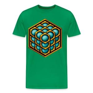 3D CUBE - Männer Premium T-Shirt