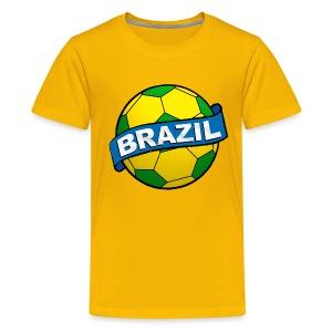 Brazil sport supporter - Teenage Premium T-Shirt