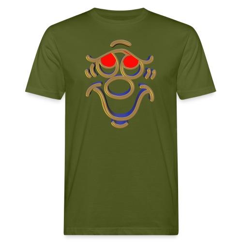 3D Funny Face - Männer Bio-T-Shirt