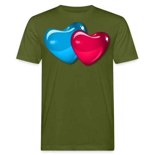 3D Hearts - Männer Bio-T-Shirt