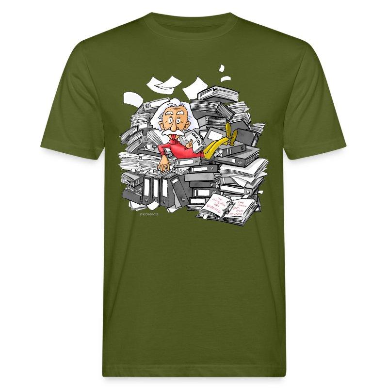 3D Einstein - Männer Bio-T-Shirt