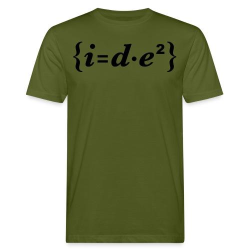{i=d*e°} Idee - Männer Bio-T-Shirt