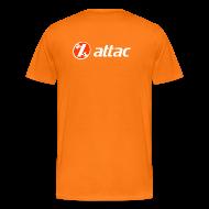 T-Shirts ~ Männer Premium T-Shirt ~ Attac Aktionsshirt in orange