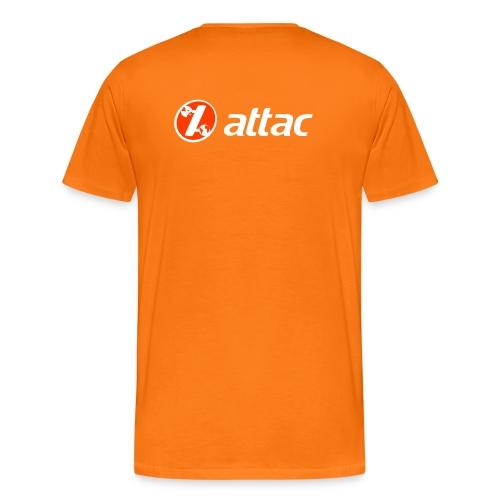 Attac Aktionsshirt in orange - Männer Premium T-Shirt