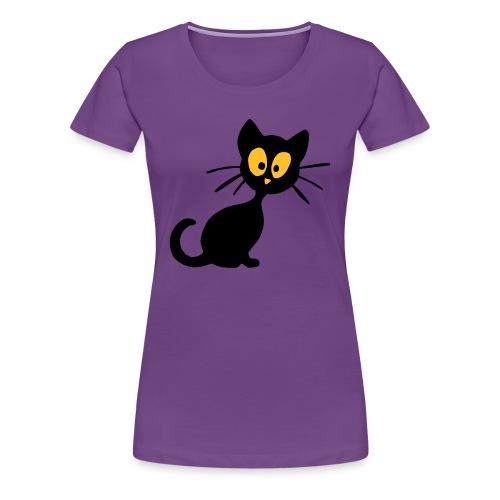 T shirt femme chat noir - T-shirt Premium Femme