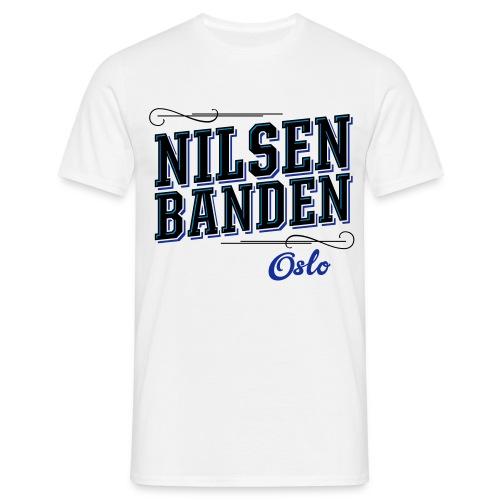 Nilsenbanden t-skjorte hvit med blå - T-skjorte for menn