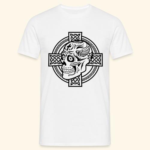 Skull & Celtic Cross, Kerlie - Männer T-Shirt