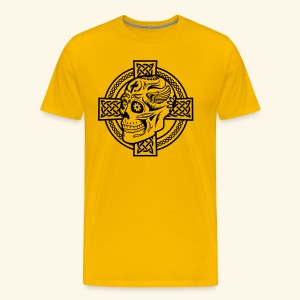 Skull & Celtic Cross, Biggie - Männer Premium T-Shirt