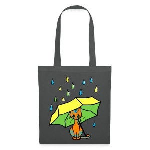 Sac shopping - chaton parapluie - Tote Bag