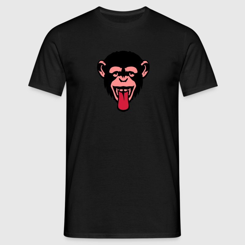 singe tire langue animal rigolo 2406 Tee shirts - T-shirt Homme