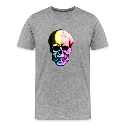 Color Skull - Premium-T-shirt herr